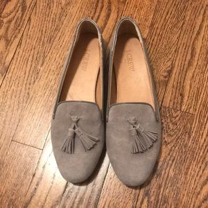Grey Suede J. Crew Loafers